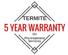 Termite 5 Year Warranty on Pre-treatment Services