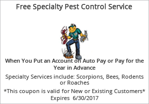 FREE SPECIALTY PEST CONTROL SERVICE