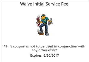 WAIVE INITIAL  SERVICE FEE